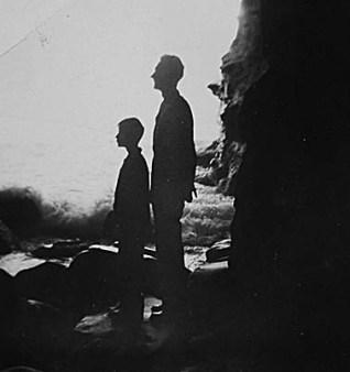 Ransom and Dad, La Jolla Caves, 1948