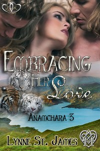 embracing her love, anamchara, paranormal, fantasy, romance, menage, love, erotic romance, jk publishing, lynne st. james