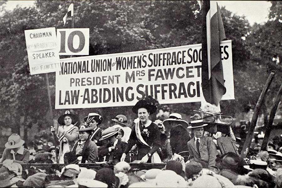 Women Suffrage rally Britain