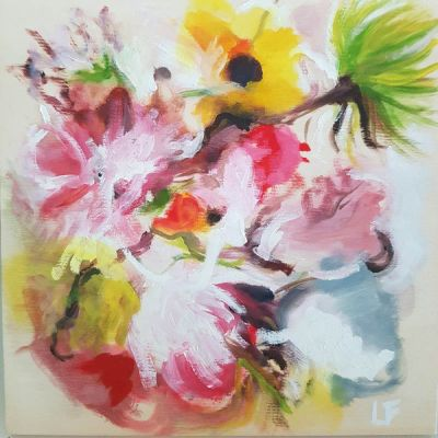 Abstract florals contemporary art by Lynn Farwell
