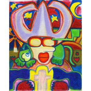 Dot Hill Series by contemporary artist Lynn Farwell Courtenay BC Art Alchemy Studio