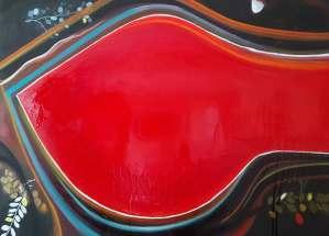 Big Red Contemporary Art Lynn Farwell Courtenay BC