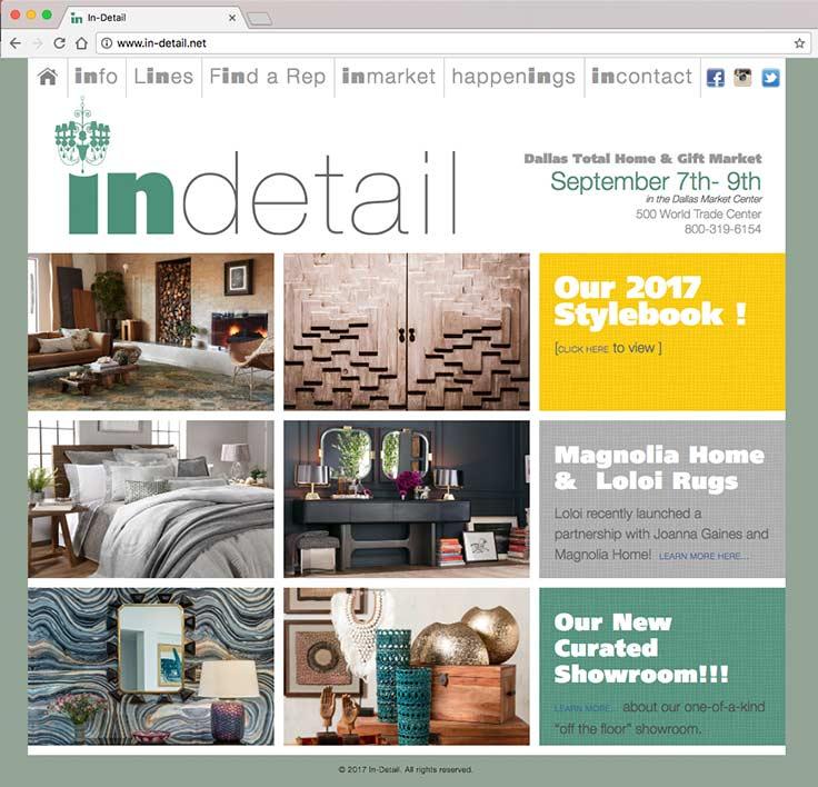 In-Detail Showroom Website screenshot