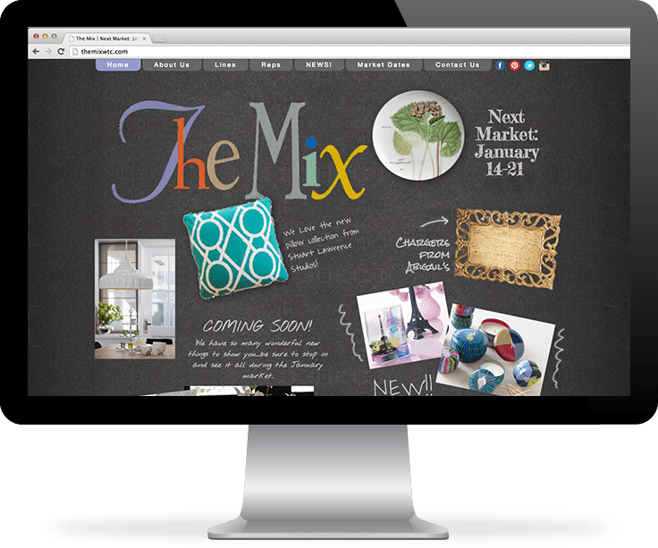 The Mix Showroom Website screenshot