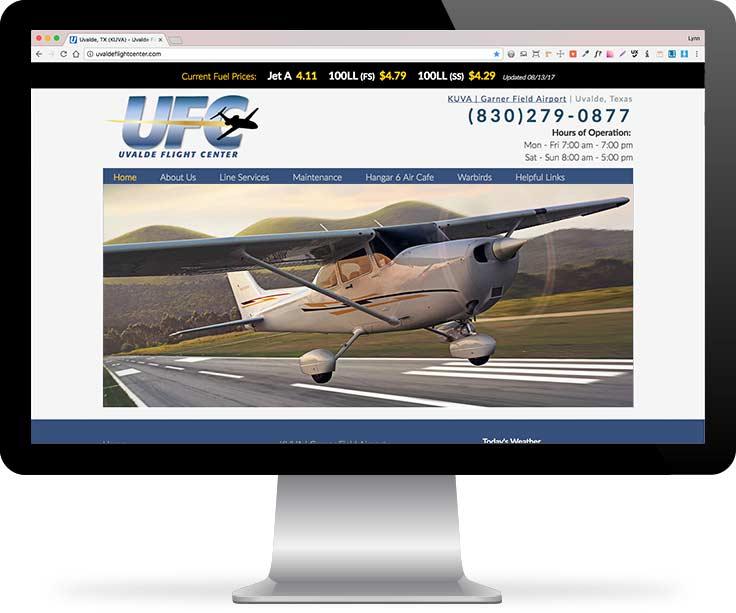 Uvalde Flight Center website screenshot
