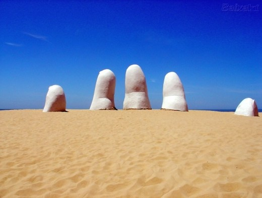 The Finger Beach, Punta del Este, Uruguay