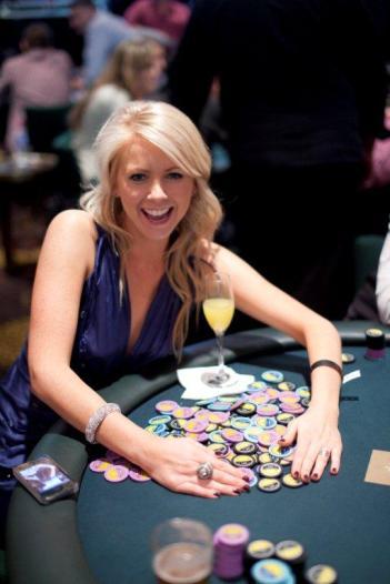 Lynn Gilmartin playing the EJ Whitten Charity Poker Tournament