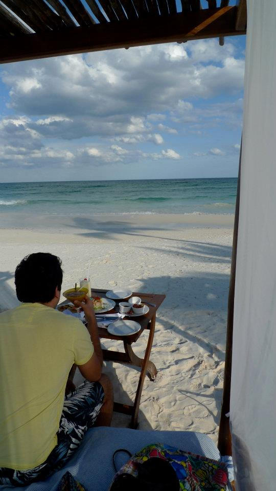 Lunch on the beach - Ana y Jose Hotel and Spa, Tulum