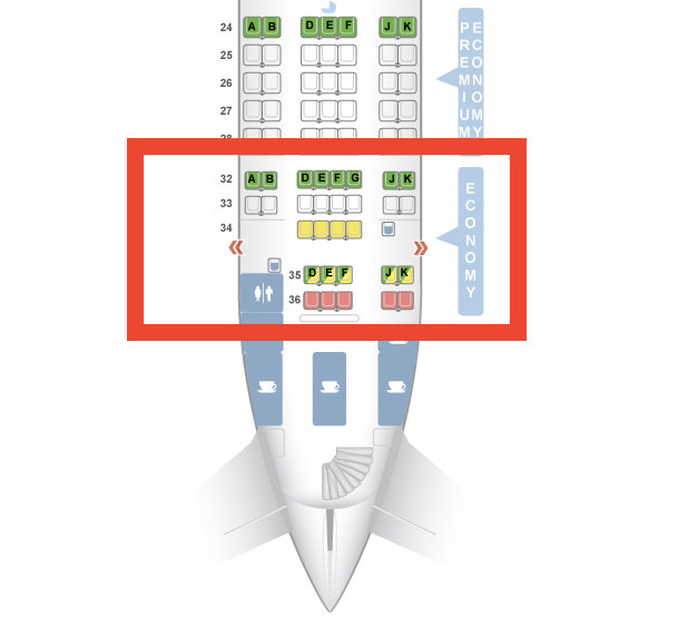 Qantas Airbus A380 Upper Deck Economy