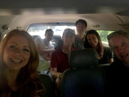 Driving to Nanshan Temple with Mike Sexton, Steve Lipscombe, Shannon Elizabeth, Adam Strohl and Koven Song