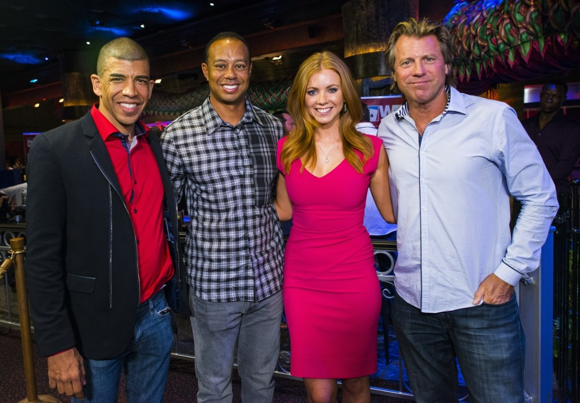WPT Foundation Tiger's Poker Night - Adam Pliska, Tiger Woods, Lynn Gilmartin, Vince Van Patten