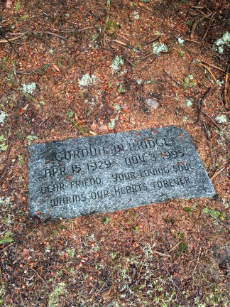 The second memorial marker by the picnic bench.