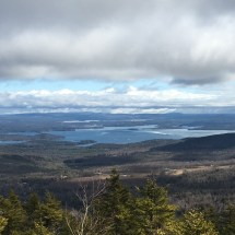 View of Lake Winnipesaukee from the overlook just off the Belknap Mt. white trail
