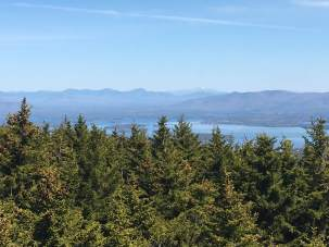 View from the fire tower - just to the right of center is Mt. Washington.