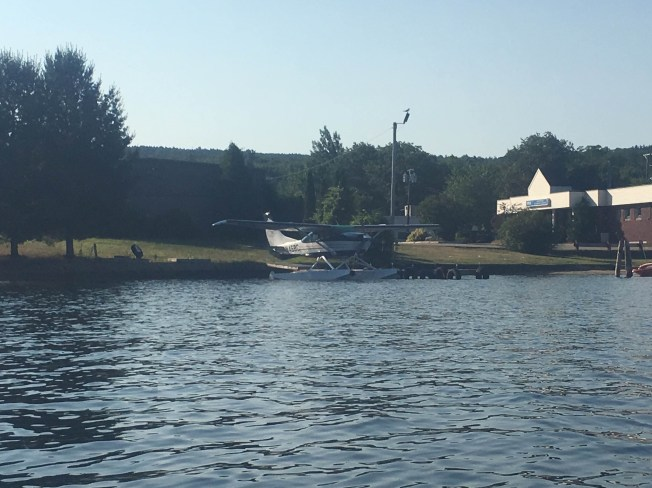 Seaplane at its doc (right next to my cat's vet). I've witnessed this thing taking off from the lake while kayaking, and it's spectacular.