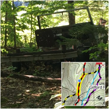 The is the old truck I took a picture of a couple weeks ago - inset map shows where it is on the trail.