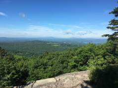 My snacktime view from the overlook along the Gunstock orange trail, where I enjoyed a banana.