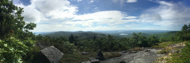 Panorama from the upper ledges of the Boulder trail.