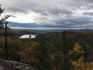 View from Precipice Path. Hills Pond on the left.