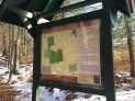 A short walk up from the road, there is a kiosk with a map and information about the preserve.