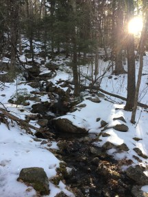First stream crossing of many.