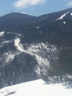 Close-up of a ski trail on Gunstock.