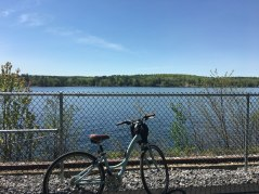 Looking over Lake Winnisquam just above the Mosquito Bridge.