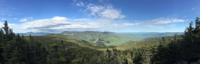 Just below the summit, this view of Crawford Notch.