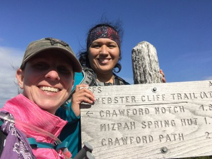 Summit selfie at the trail junction.