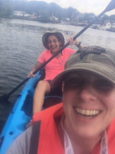 Tandem kayaking with my BFF!