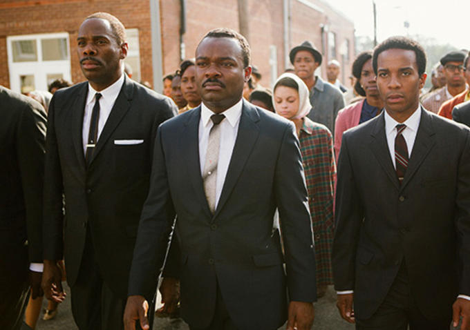 Above: David Oyelowo was surprisingly not nominated for playing Civil Rights Activist Martin Luther King, Jr. in