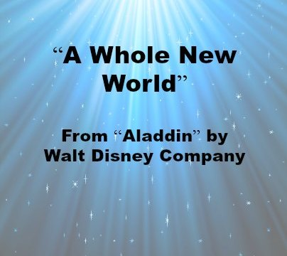 Song - A Whole New World