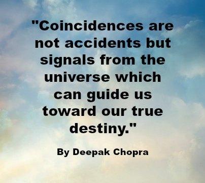 Quote - Coincidence - Deepak Chopra