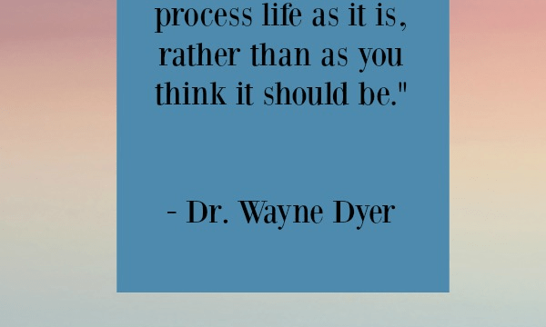 Quote - Peace Training Mind by Wayne Dyer
