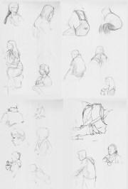 Sketchbook Page People Quick Studies