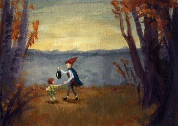 """Over The Garden Wall"" - A study in acrylic of the colours in the Cartoon Network show"
