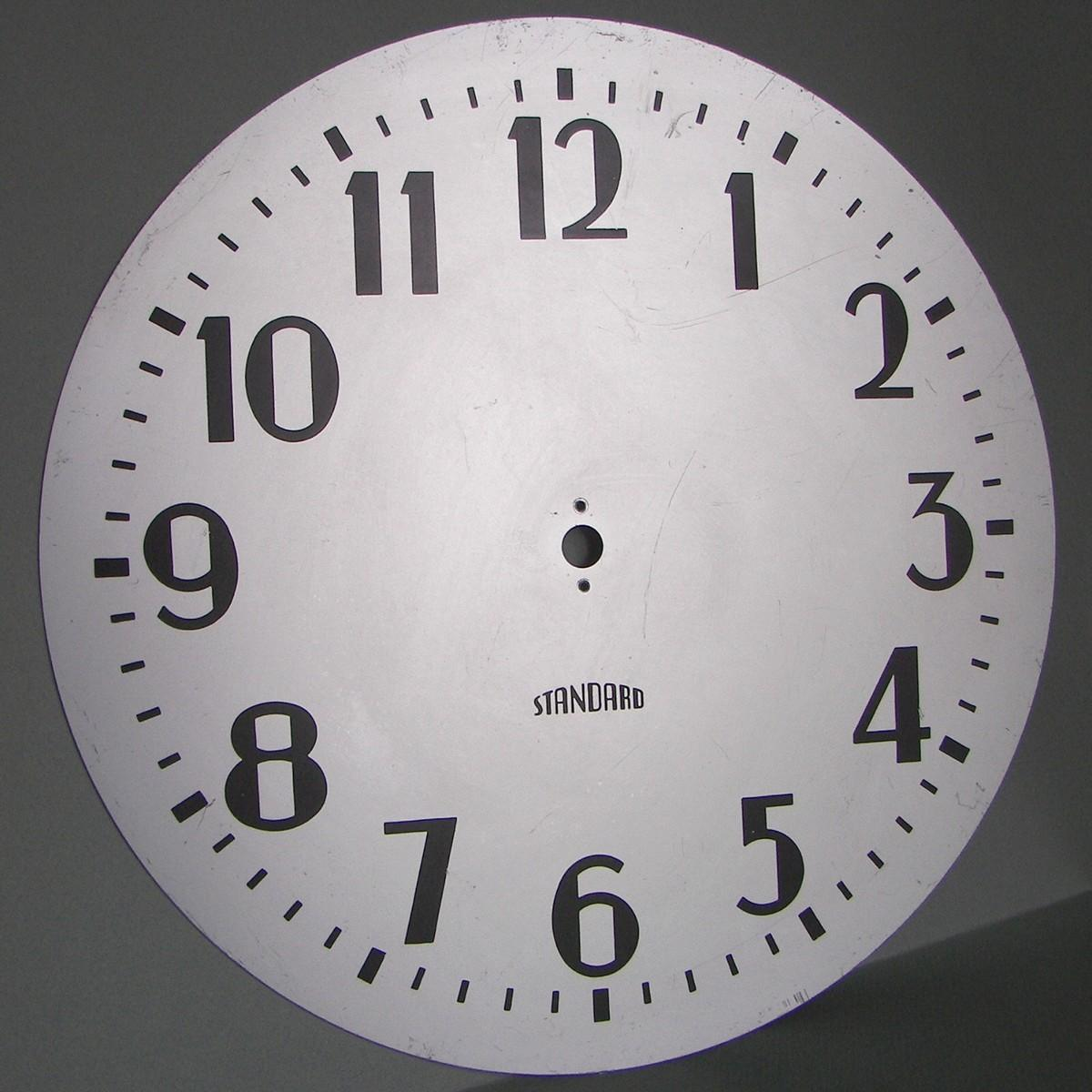 Standard Electric Time Co 12 Art Deco Wall Clock Face