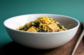 Brown Rice Stir-Fry with Tofu, Kale and More....