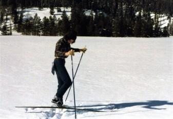 Lynn - getting skis on