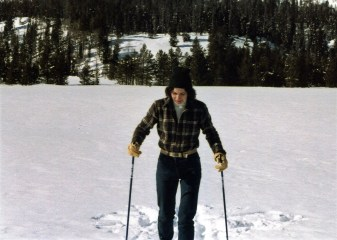 Skiing towards Jenny Lake