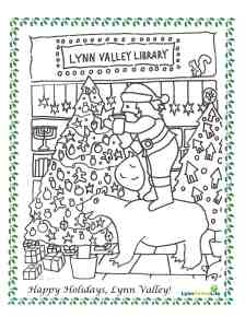 Santa at LV Library
