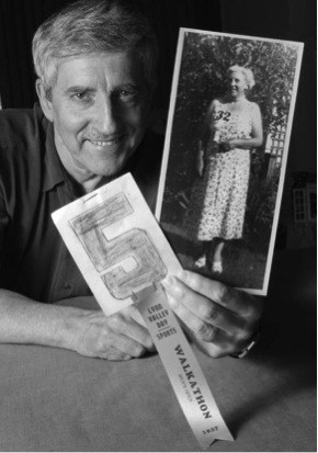 MOM'S SECRET WEAPON – Len Corben (above) recalls the 1957 Lynn Valley Day when his mother, Lillian Corben, copped first place in the senior women's racewalk with an unusual finishing kick.
