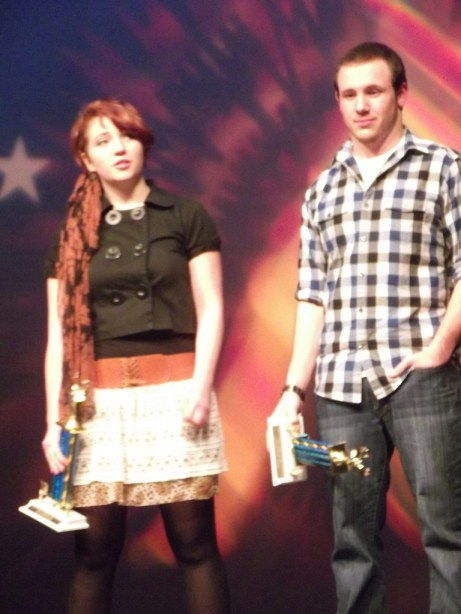 Audience Trophy co-winners Katy Bodnar and Lucas Pope.