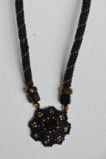 Black and gold Victorian necklace