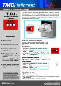 Etiqueta Desinfección TDI