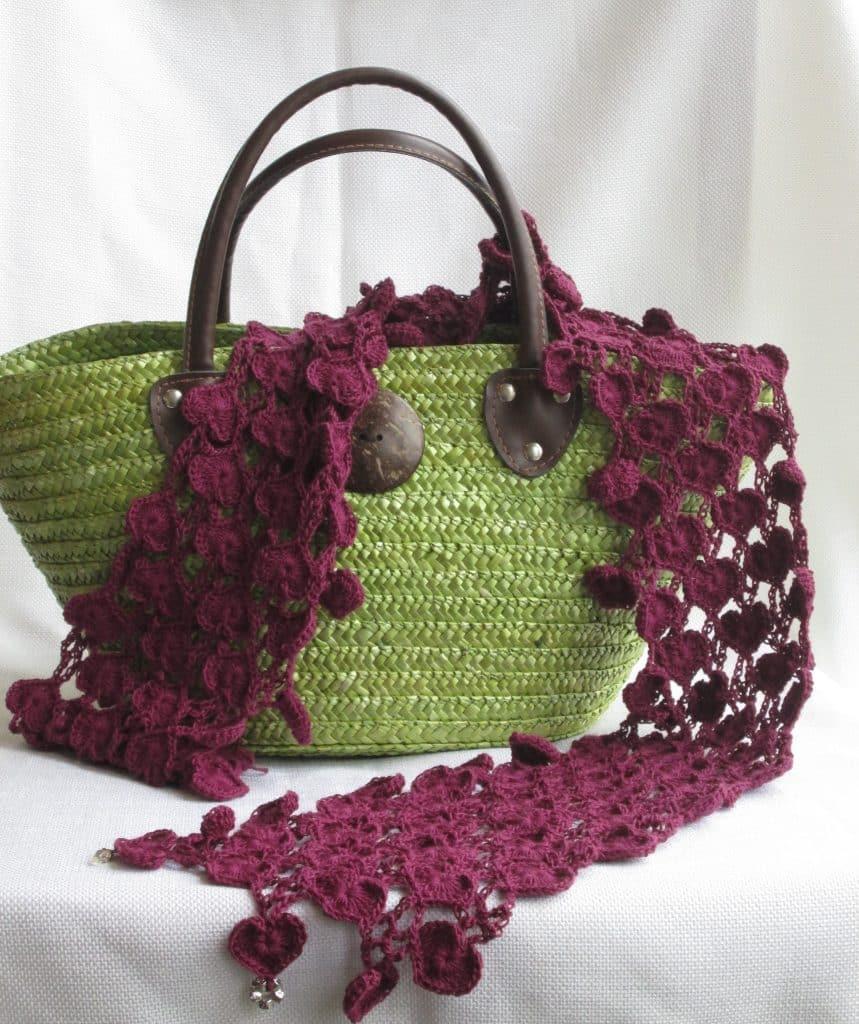 Heart Chain Scarf Crochet Pattern
