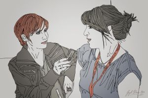 That's me interviewing Enrica Jang! Illustration by Jayel Draco.