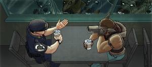 police officer vigilante coffee dogs lynsey g