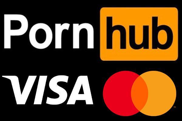PHub and Visa and Mastercard's logos.