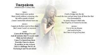 Unspoken - LYRICS - (c) Lyn V. Conary
